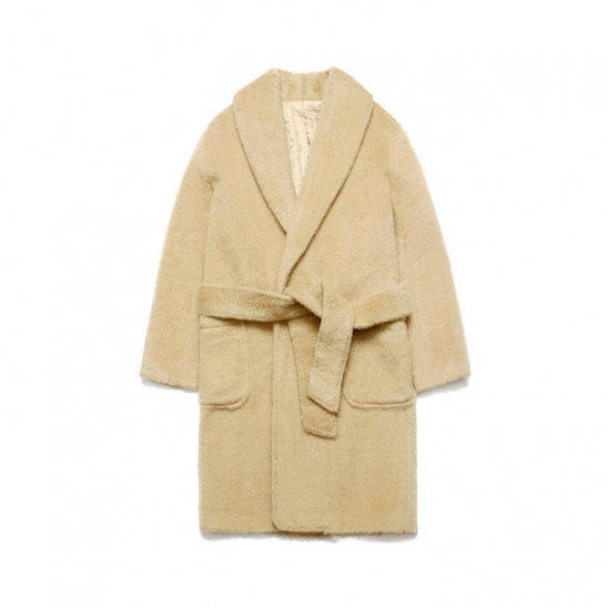Teddy Bear Robe Coat_Beige