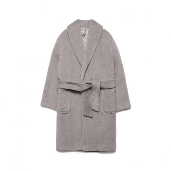Teddy Bear Robe Coat_Gray