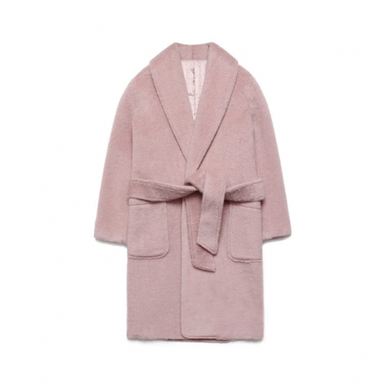 Teddy Bear Robe Coat_Pink
