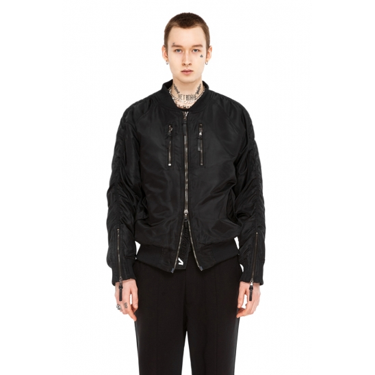 VLACK VIBE - ZIPPER MA-1 JACKET (black)