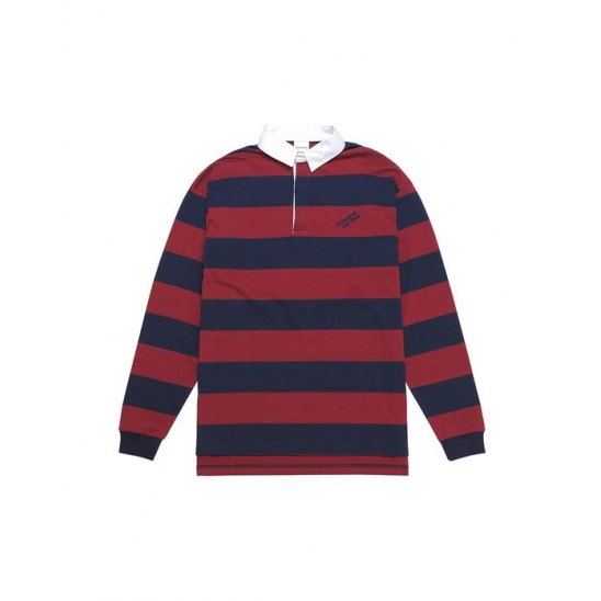 Striped Rugby Shirt Burgundy / 디네댓
