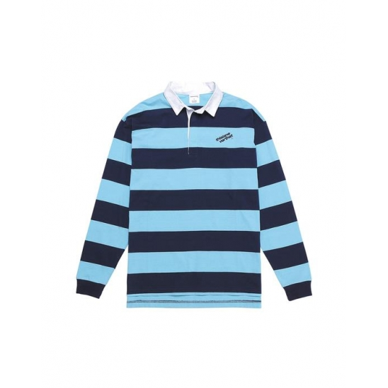 Striped Rugby Shirt Sky Blue / 디네댓