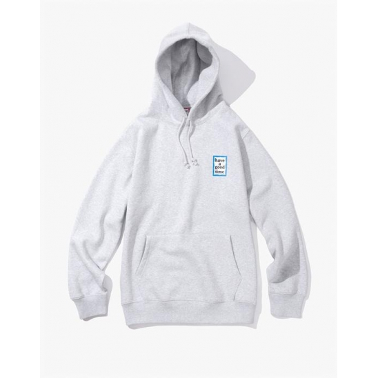 Mini Blue Frame Pullover Hoodie - Heather Grey / 후드 티셔츠