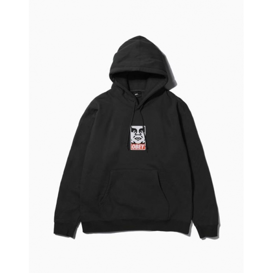 OBEY ICON FACEBASIC PULLOVER HOOD BLACK / 스웻후드