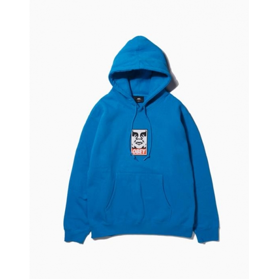 OBEY ICON FACEBASIC PULLOVER HOOD ROYAL BLUE / 스웻후드