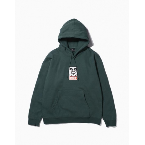 OBEY ICON FACEBASIC PULLOVER HOOD ALPINE / 스웻후드