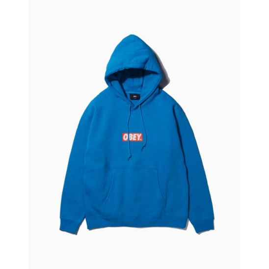 OBEY BAR LOGOBASIC PULLOVER HOOD ROYAL BLUE / 스웻후드