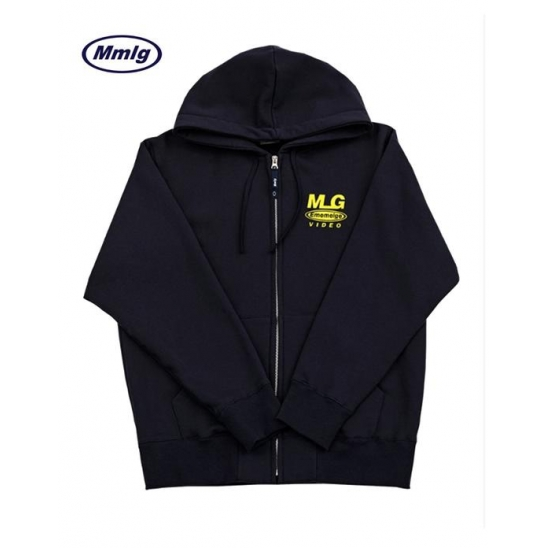 [Mmlg] MLG VIDEO HOOD ZIP-UP PURPLE NAVY / MMLG 엠엠엘지 후드 집업