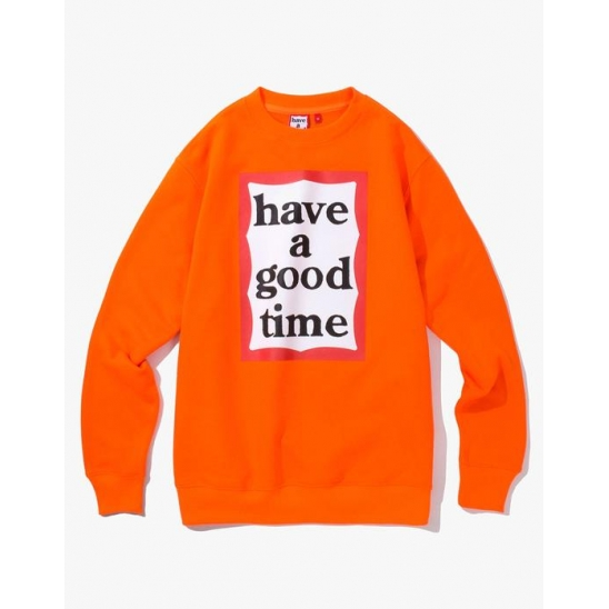 Frame Crewneck - Neon Orange / 맨투맨 스웨트 셔츠