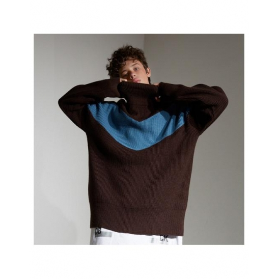 Color Blocking Pull Over knit (BR)