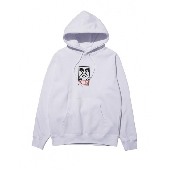 OBEY ICON FACEBASIC PULLOVER HOOD WHITE / 스웻후드