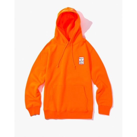 MINI FRAME PULLOVER HOODIE NEON ORANGE / 스웻후드