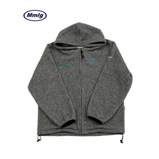[Mmlg] RECRUIT FLEECE HOOD ZIP-UP GREY / 후드 집업