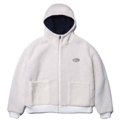 HOODY ZIP-UP FLEECE(IVORY)