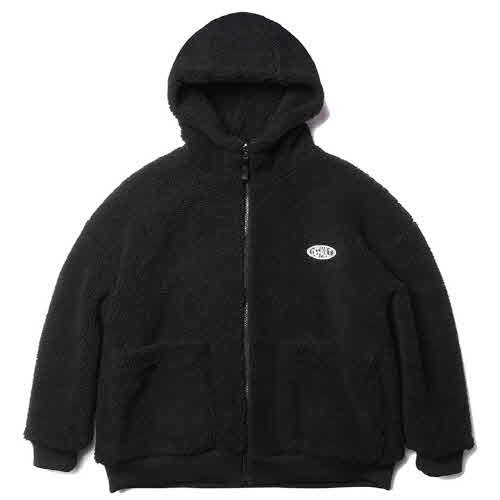 HOODY ZIP-UP FLEECE(BLACK)