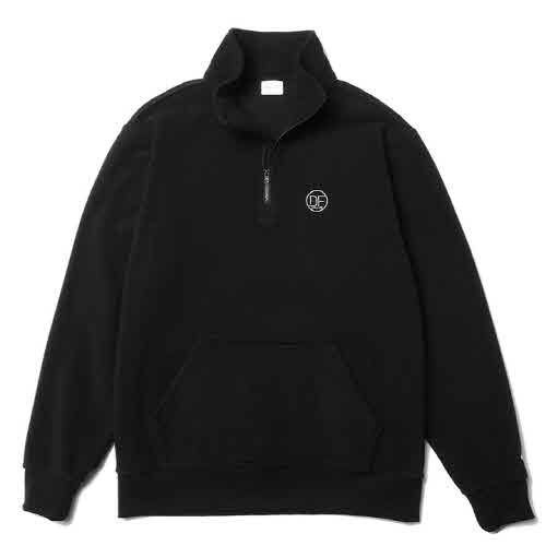 DF HALF ZIP-UP FLEECE(BLACK)