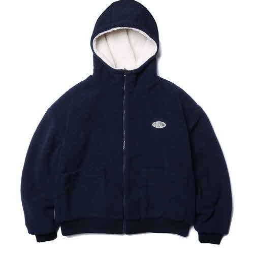 HOODY ZIP-UP FLEECE(NAVY)