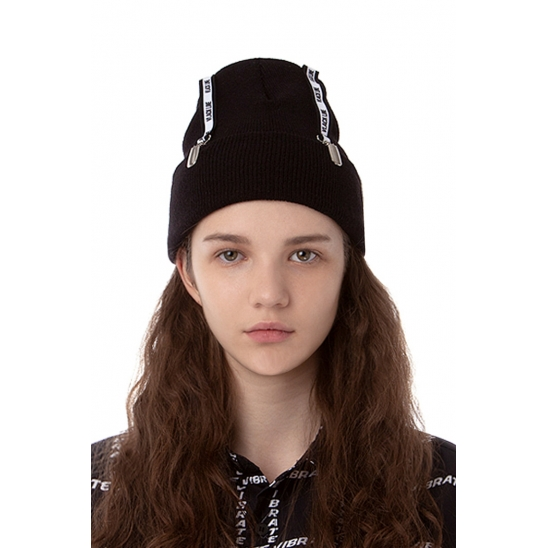 VLACK LINE - BELT POINT BEANIE (BLACK)