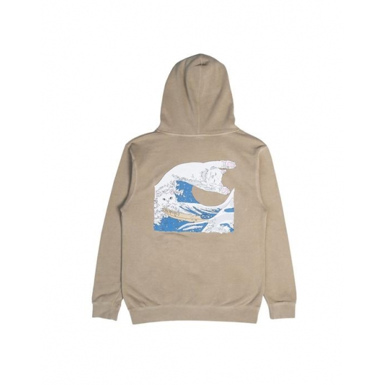 Great Wave Of Nerm Pullover Sweater  Tan / 풀오버 스웻후드