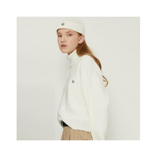 [매치글로브]MG8F CG CROP HIGHNECK KNIT_IVORY