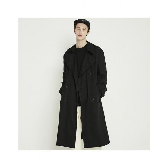 [트라이투톡]T38F OVERFIT TRENCH COAT_BLACK