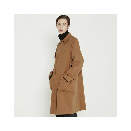 [트라이투톡]T38F RAGLAN MAC COAT_BROWN
