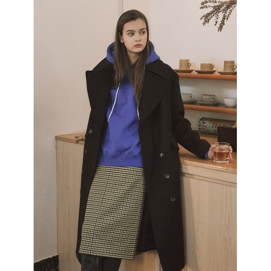 18fw R ocean long coat black
