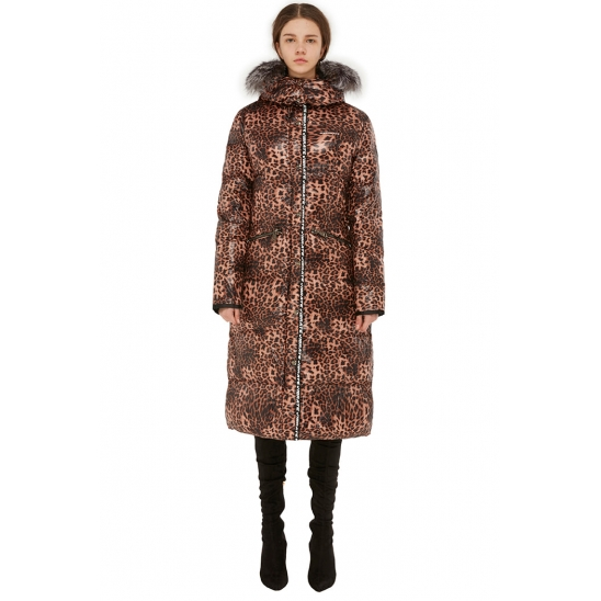 VIBRATE - EXPEDITION LEOPARD LONG DUCKDOWN JACKET 한예슬 패딩 [12.17 순차배송]