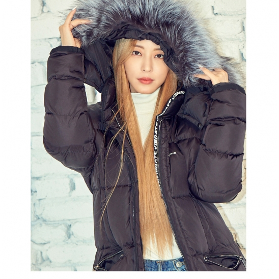 VIBRATE - EXPEDITION LONG DUCKDOWN JACKET (BLACK) 한예슬 패딩