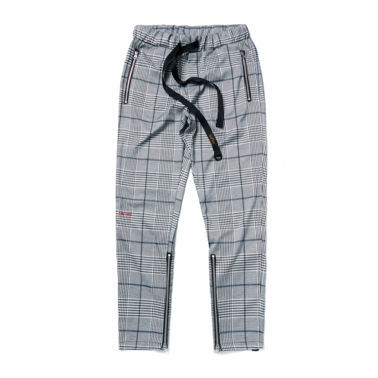 BrTW ZIPPER JOGGER PANTS GLEN CHECK