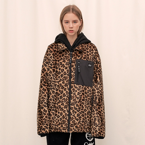 FLEECE JUMPER - LEOPARD