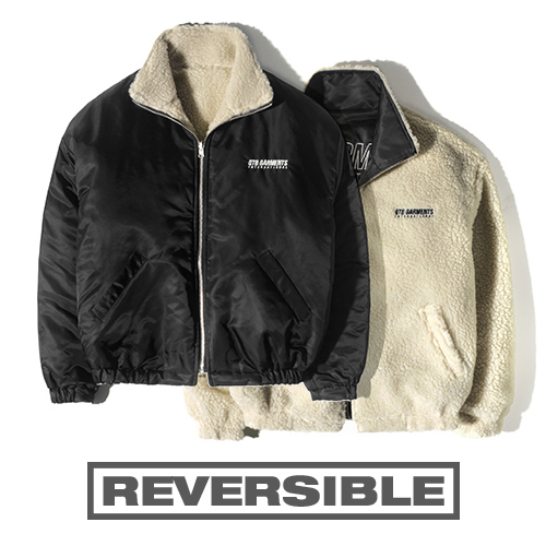 HT Fleece Reversible JK (Black/Beige)