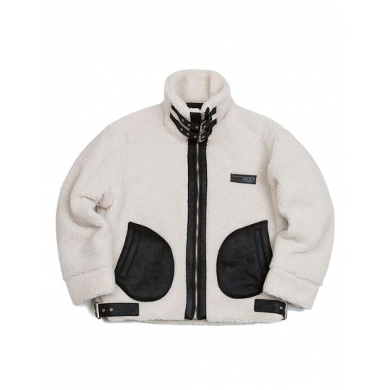 HEAVY FLEECE JACKET IVORY