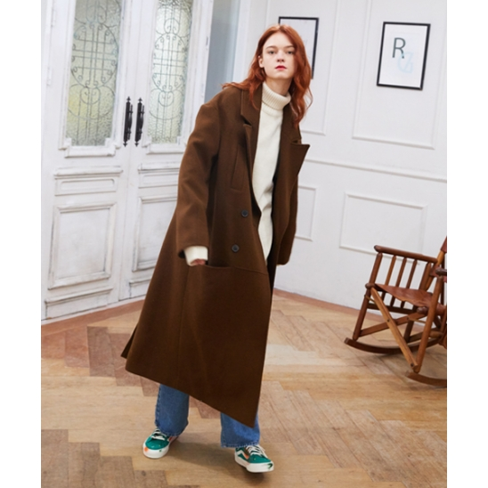 [unisex] long coat (brown)