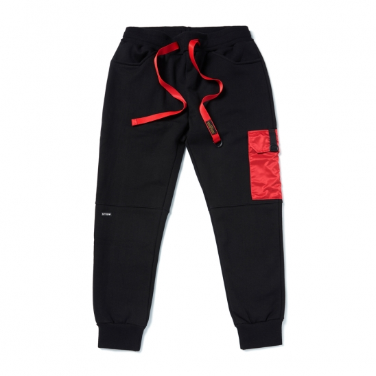 STGM POCKET HEAVY SWEAT JOGGER PANTS BLACK