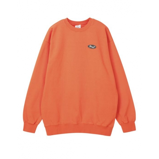 배드팩토리 BAD FACTORY RUBBER LOGO CREWNECK 오렌지