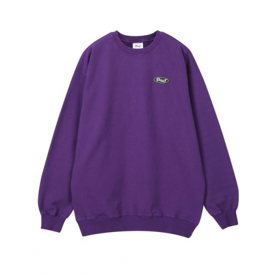 배드팩토리 BAD FACTORY RUBBER LOGO CREWNECK 퍼플