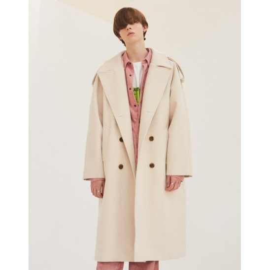 OVERSIZED THINSULATE TRENCH COAT BEIGE