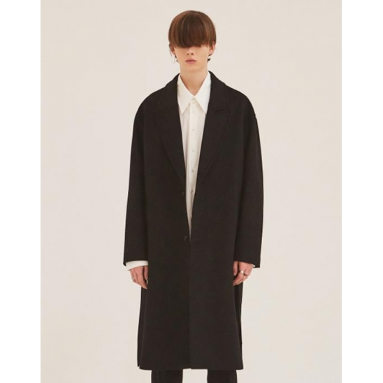 CASHMERE ROBE COAT BLACK