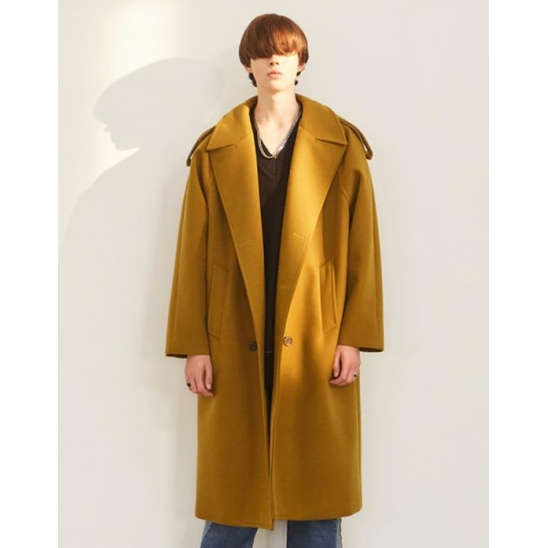 OVERSIZED THINSULATE TRENCH COAT LIGHT KHAKI