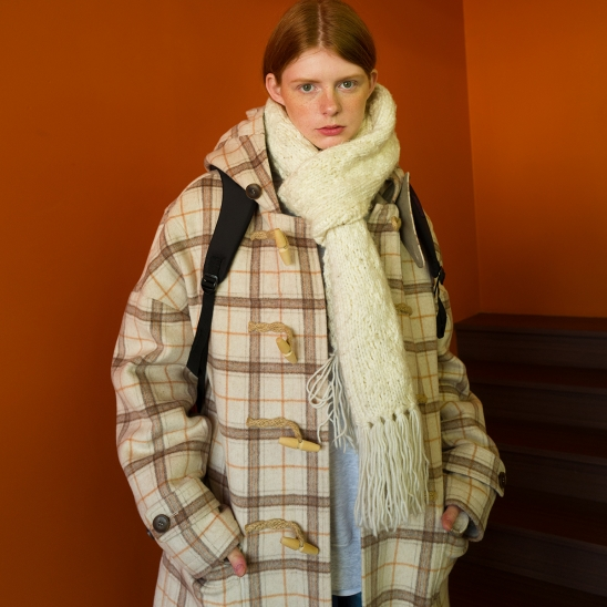 8F Oversized Duffle Coat(IVORY CHECK)