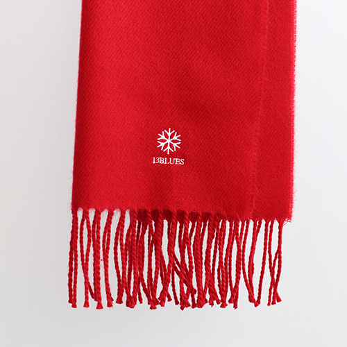 13BLUES SF EMB MUFFLER (RED)