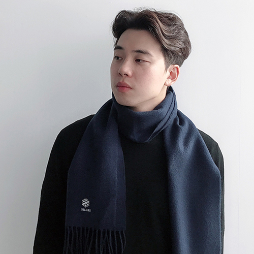 13BLUES SF EMB MUFFLER (NAVY)