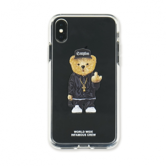 PHONE CASE COMPTON BEAR CLEAR iPHONE Xs / Xs MAX / Xr