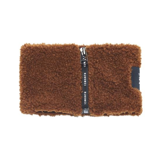 BOUCLE NECK WARMER (BROWN)