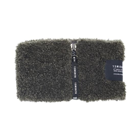 BOUCLE NECK WARMER (CHARCOAL)