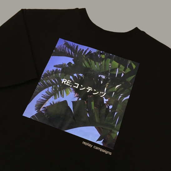 black replay campaign 1/2 tee (green)