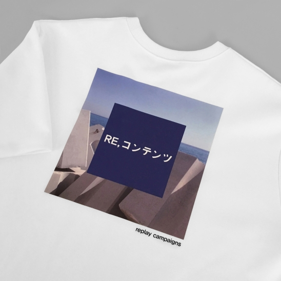 replay campaign 1/2 tee (blue)
