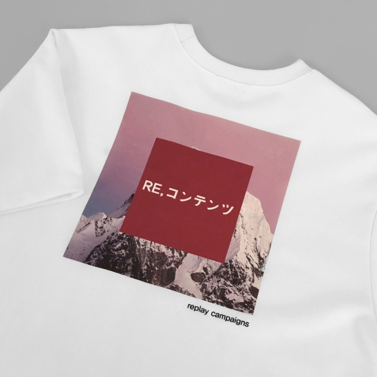 replay campaign 1/2 tee (pink)