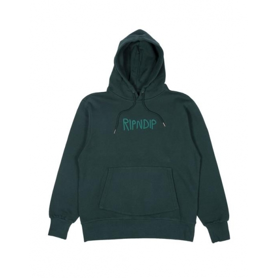 Rugger Logo Hoodie Hunter Green